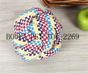 Eco-friendly material cotton ball Chew toy for Pets 2269