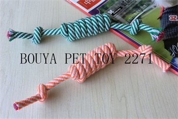 Non-Toxic Long Lasting chew toy Rope knot for dog 2271