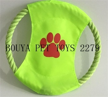 Long Lasting Dog toys Frisbee (flying disc) rope toy 2279