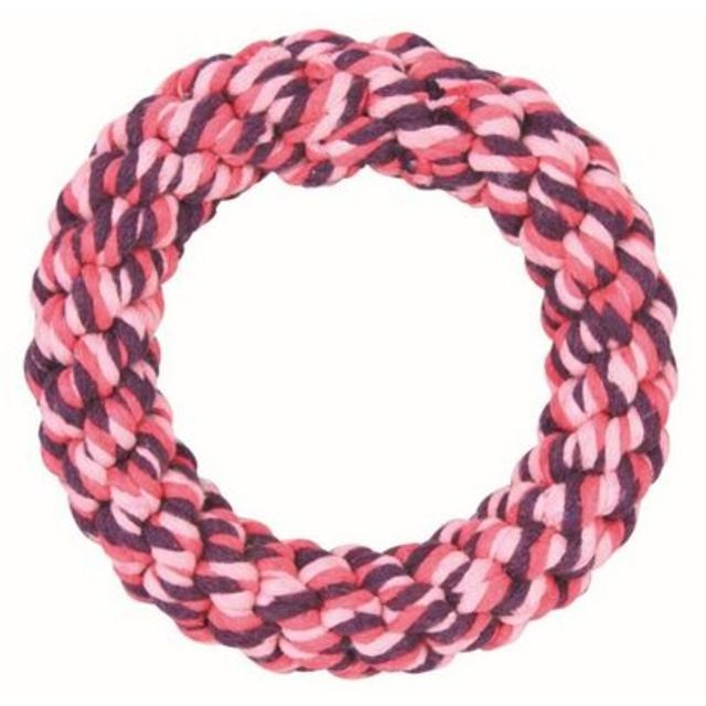 Cotton rope pet toy ring