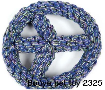 Colorful handmade rope pet puppy dog toy rings