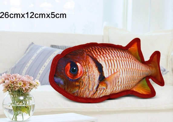 Pet toy Canvas Fish shape dog toy