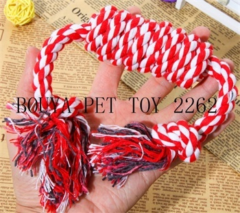 Rope toy knot for dog handles 2262