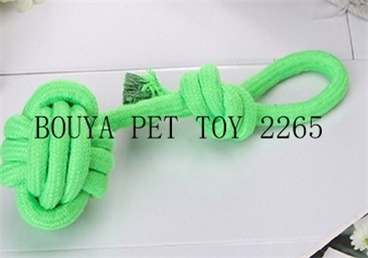 handmade Tough Strong Pet Puppy Dog Playing Cotton Rope Weave Ball Toys 2265
