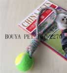 Long Lasting Chew Toy Tennis ball rope for dog 2270