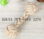 Long Lasting Pet Toy Training dumbbell cotton rope 2276