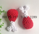 New product puppy toys Handmade knit pet toys drumstick 2289