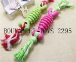 Cheap dog toys Durable dog squeaky Toy pet gift TPR with rope toy 2295