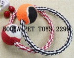 Rope toy for puppy dog with tennis ball 2299