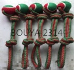 NEW PET TOY DESIGN (CHRISTMAS) PRODUCT RANGE: COTTON ROPE PET TOYS WITH TENNIS BALL 2314
