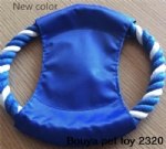 Dog toys Frisbee (flying disc) rope toy 2320