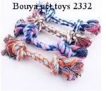 Dog pet toys supplies Cotton Chew rope Dog Durable Braided Bone bites rope 23cm for Small dogs  2332