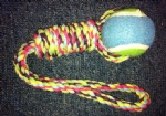 Pet toy Rope with tennis ball