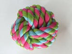 Rope pet toy ball