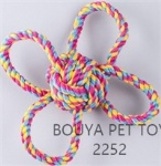 Rope pet toy with handles 2252